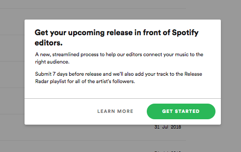 Pitching for Playlists via Spotify for Artists